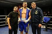 BOXEN: EC Boxing, Fightnight, Schwergewicht, Hamburg, 13.03.2021<br /> Boxen1-Newcomer des Jahres Auszeichnung: Victor Faust (GER, UKR)<br /> © Torsten Helmke