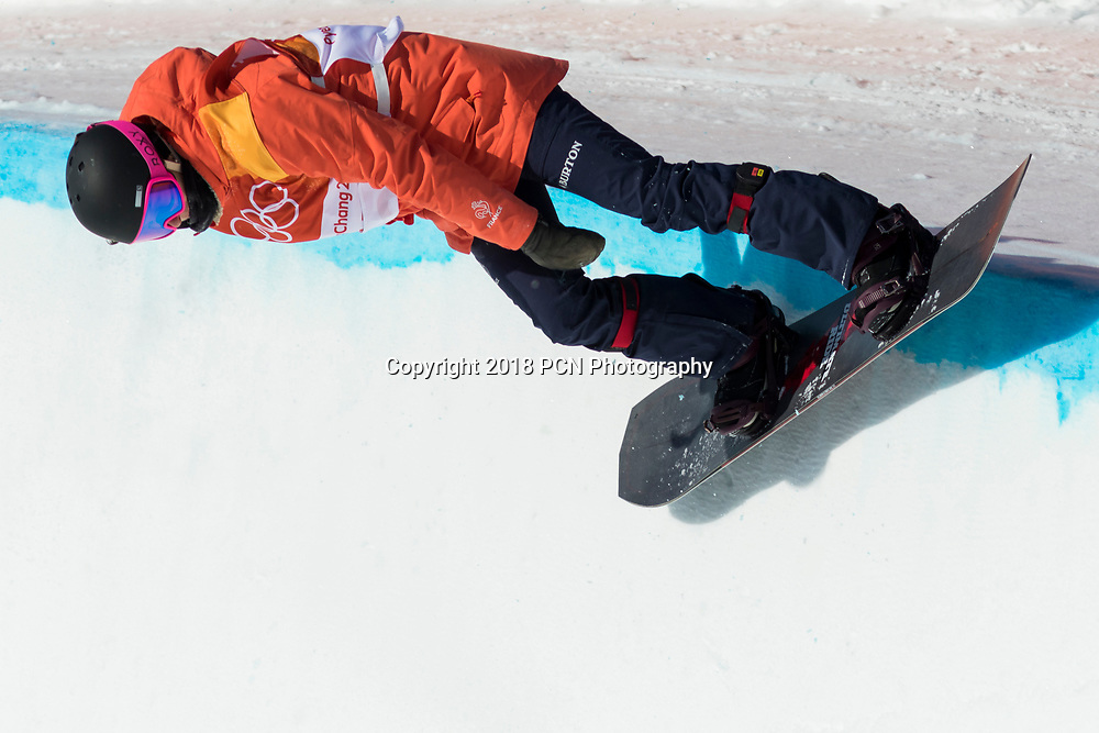 Sophie Rodriguez (FRA) competing in the Snowboard Ladies Halfpipe at the Olympic Winter Games PyeongChang 2018
