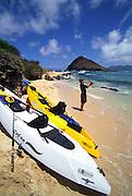 Fishing, Mokulua Island, Oahu, Hawaii<br />