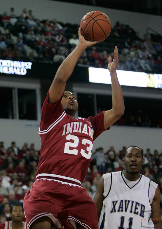 24 November 2007: Indiana guard Eric Gordon (23) as the Indiana Hoosiers played Xavier in a college basketball game in the Chicago Invitational Challenge at the Sears Center in Hoffman Estates, Ill.