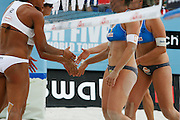 Friday June 20th 2008. Paris, France.Swatch FIVB World Tour - Henkel Grand Chelem...A international Beach Volley Competition takes place for a week on the Champ de Mars in Paris.