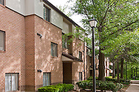 Architectural Photography of Columbia  Maryland Apartment Building Chimneys of Cradelrock by Jeffrey Sauers of Commercial Photographics