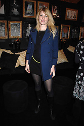 MEREDITH OSTROM in the Moet & Chandon Room at British Fashion Week at the Natural History Museum on 15th February 2007.<br />