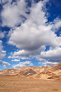 Afternoon Clouds over the Black Mountains and Golden Canyon, Death Valley National Park, California