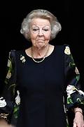 AMSTERDAM, 04-06-2021, Paleis op de Dam<br /> <br /> Prinses Beatrix der Nederlanden reikt in het Koninklijk Paleis Amsterdam de Zilveren Anjers van het Prins Bernhard Cultuurfonds uit. Zowel de laureaten van 2021 als die van 2020 ontvangen hun Zilveren Anjer. Vanwege de uitbraak van het coronavirus kon de uitreiking van de Zilveren Anjers vorig jaar geen doorgang vinden. <br /> FOTO: Brunopress/Patrick van Emst<br /> <br /> Princess Beatrix of the Netherlands presents the Silver Carnations of the Prince Bernhard Cultuurfonds at the Royal Palace in Amsterdam. Both the 2021 and 2020 laureates will receive their Silver Carnation. Due to the outbreak of the corona virus, the presentation of the Silver Carnations could not take place last year.