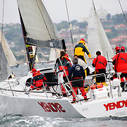 The yacht Yendys at the start of the 2009 Rolex Sydney to Harbour Yacht Race in Sydney Harbour