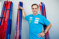 Rok Perko at departure of Slovenian Men Ski Team to training camp in Argentina and Chile on August 21, 2014 in SZS, Ljubljana, Slovenia. Photo by Vid Ponikvar / Sportida.com