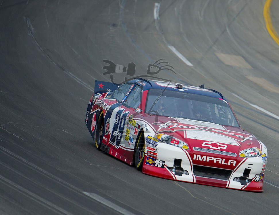 Sparta, KY - JUN 29, 2012: Kevin Harvick (29) during qualifying for the Quaker State 400 at Kentucky Speedway in Sparta, KY.