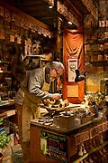 Orvieto, Italy terrecotte artist Alberto Bellini in his studio shop