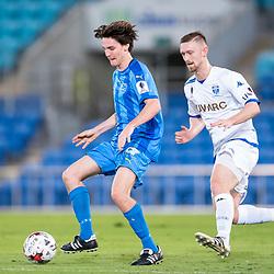 BRISBANE, AUSTRALIA - SEPTEMBER 20: Jason Campbell of Gold Coast City controls the ball during the Westfield FFA Cup Quarter Final match between Gold Coast City and South Melbourne on September 20, 2017 in Brisbane, Australia. (Photo by Gold Coast City FC / Patrick Kearney)