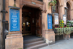 © Licensed to London News Pictures. 16/03/2020. London, UK. A Witherspoons pub in Whitehall is closed for deep cleaning  as Coronavirus outbreak is affecting businesses and tourism in London. Photo credit: Ray Tang/LNP