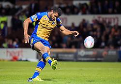 Leeds Rhinos' Kallum Watkins takes a conversion kick during the Betfred Super8's match at Headingley Carnegie, Leeds.