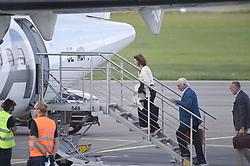 July 13, 2017 - Kalmar, Sweden - Queen Silvia, king Carl XVI Gustaf..Swedish royals at Kalmar airport on their way to Stockholm, 2017-07-13..© Karin Törnblom / IBL ....Unfixed image....Kungaparet pÃ¥ väg till Stockholm frÃ¥n Kalmar föygplats, 2017-07-13. (Credit Image: © Karin TöRnblom/IBL via ZUMA Press)