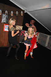 Left to right, DEBS WRIGHT  and LIBET STERLING at the London Red Cross Ball themed 'Honky Tonk Blues' held at 99 Upper Ground, London SE1 on 21st November 2007.<br /><br />NON EXCLUSIVE - WORLD RIGHTS