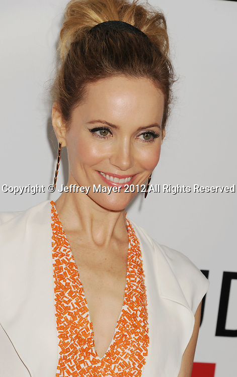 HOLLYWOOD, CA - DECEMBER 12: Leslie Mann arrives at the 'This Is 40' - Los Angeles Premiere at Grauman's Chinese Theatre on December 12, 2012 in Hollywood, California.