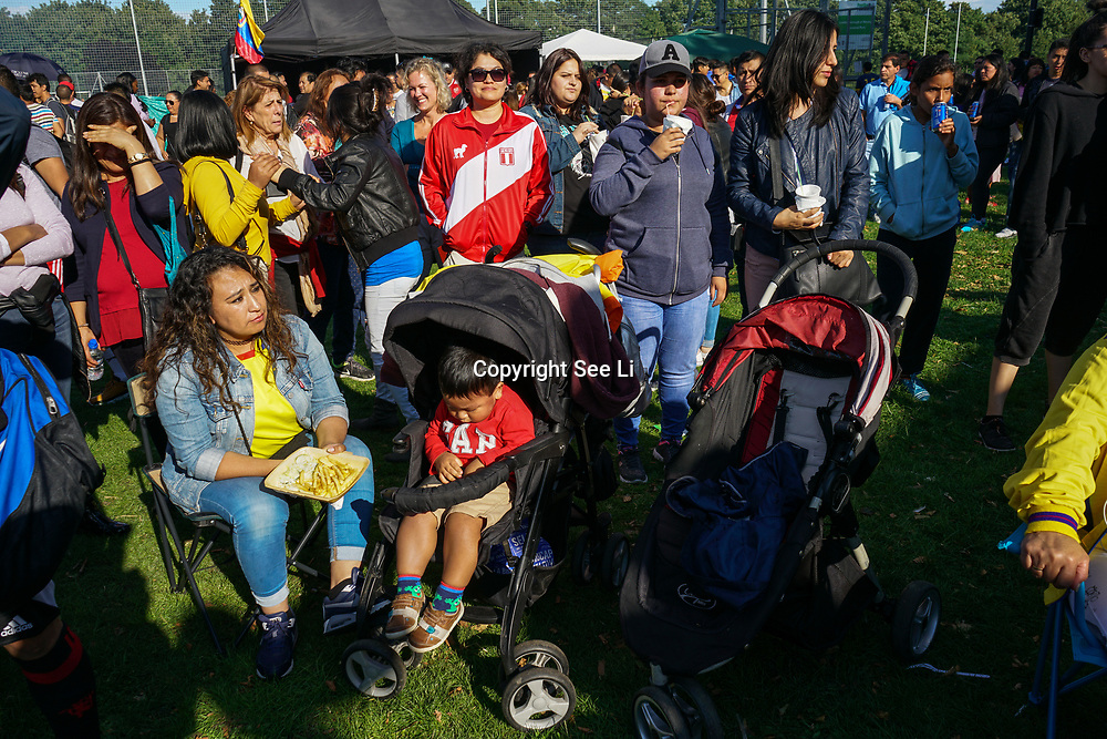 London, UK. 4th August 2017. The 6th annual LATIN American Carnival Newham. A Latin American summer festival party with live music, delicious food & drinks and barbecue of Latino community and to show the vibrant of Latin culture at West Ham.