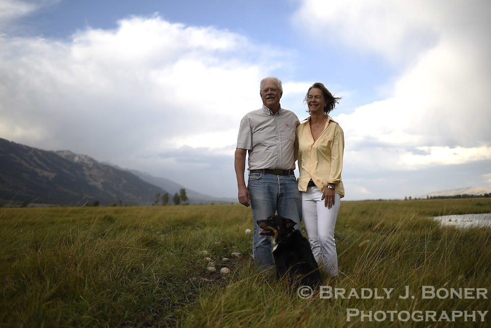 Bill and Story Resor on their conservation property