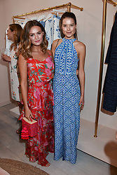 Left to right, Niomi Smart and Sarah Ann Macklin at the launch of the Beulah Flagship store, 77 Elizabeth Street, London England. 16 May 2018.
