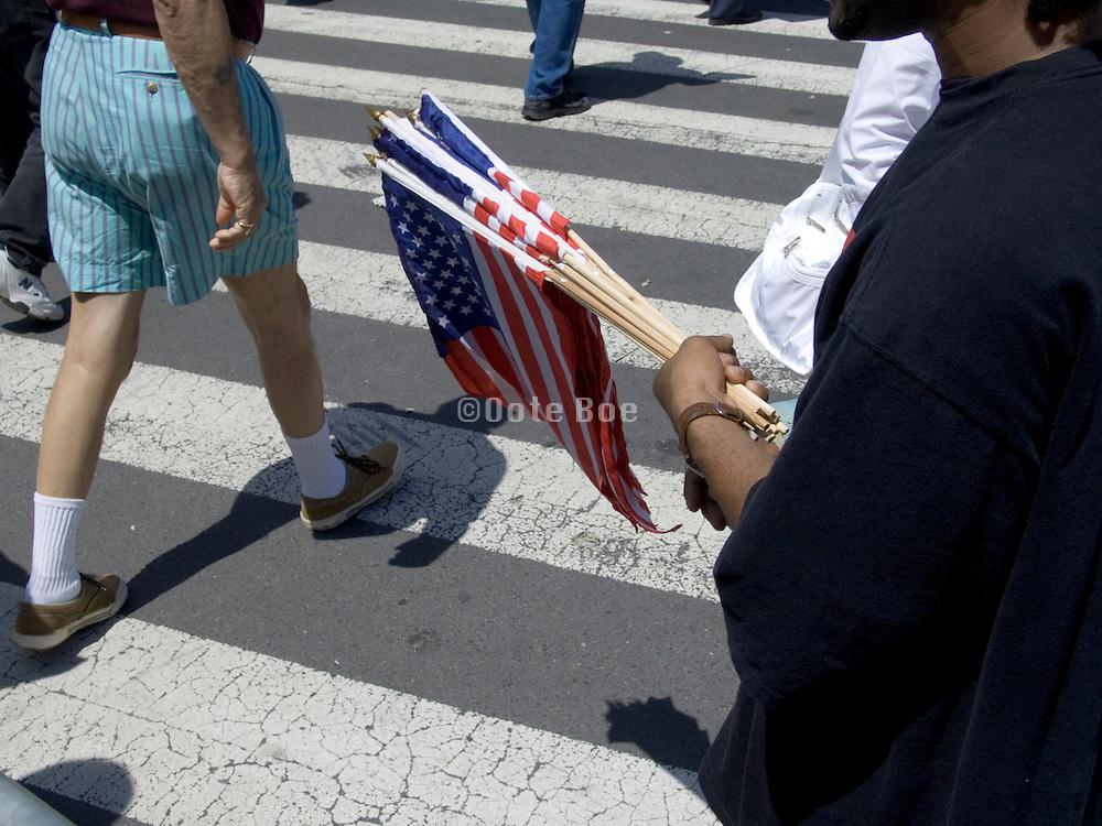 selling American flags during Fleet week 2005 NYC