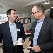 31.08. 2017.                                   <br /> Leaders in the pharmaceutical manufacturing sector in Ireland gathered at University of Limerick today for the third annual Pharmaceutical Manufacturing Technology Centre (PMTC) Knowledge Day.<br /> <br /> Pictured at the event were, Ian Wilson, University Cambridge and Steve Jeffrey, Eli Lilly.<br /> <br /> The event provided a showcase for the cutting-edge research supported by the centre with key note addresses from industry thought leaders who shared their vision of the future for the pharmaceutical sector. Picture: Alan Place