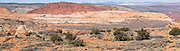 Panoramic image of the remote area known as South Coyote Buttes, Paria Plateau, Vermilion Cliffs National Monument, Arizona, USA.