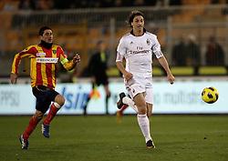 Lecce (LE), 16-01-2011 ITALY - Italian Soccer Championship Day 20 -  Lecce - Milan..Pictured: Ibrahimovic (M) azione del gol..Photo by Giovanni Marino/OTNPhotos . Obligatory Credit