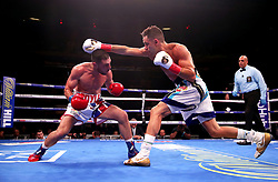 Tommy Coyle (left) in action against Chris Algieri in the WBO International Super-Lightweight title at Madison Square Garden, New York.