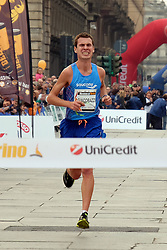 October 29, 2017 - Turin, Italy - Italian Alessandro Giacobazzi wins the Marathon in Turin for the masculine section, while the female run it is winning by the Pole Patrycja Wlodarczwk. To the second and third places of the masculine run they are classified the Kenian Simon Kamau and the Moroccan Youssef Sbaai. For the female run the second and third places have been conquered by Ruth Wakabu and Claudia Marietta (Credit Image: © Daniela Parra Saiani/Pacific Press via ZUMA Wire)