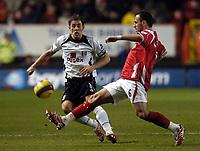 Photo: Olly Greenwood.<br />Charlton Athletic v Fulham. The Barclays Premiership. 27/12/2006. Fulham's Michael Brown and Charlton's Radstin Kishishev
