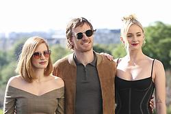April 26, 2019 - Paris, France - Jessica Chastain - Michael Fassbender - Sophie Turner (Credit Image: © Panoramic via ZUMA Press)