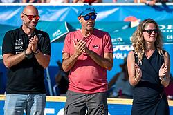 25-08-2019 NED: DELA NK Beach Volleyball, Scheveningen<br /> Last day NK Beachvolleyball / Wilco, Dela, Michel Everaert