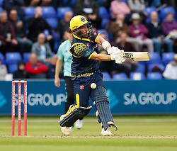 Glamorgan's David Lloyd misses the ball<br /> <br /> Photographer Simon King/Replay Images<br /> <br /> Vitality Blast T20 - Round 14 - Glamorgan v Surrey - Friday 17th August 2018 - Sophia Gardens - Cardiff<br /> <br /> World Copyright © Replay Images . All rights reserved. info@replayimages.co.uk - http://replayimages.co.uk