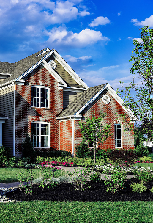New single family home construction, New Jersey, USA.