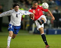 Fotball , 24 mars 2007 , EM - kvalifisering gruppe c, Norge – Bosnia , Norway <br /> John Carew , Norge og Safet Nadarevic , Bosnia