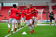 Doncaster Rovers forward Paul Taylor warms up during the EFL Sky Bet League 1 match between Doncaster Rovers and Bradford City at the Keepmoat Stadium, Doncaster, England on 22 September 2018.