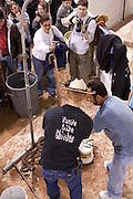 SWEETWATER, TX - MARCH 14: Jaycees volunteer snake handlers skin western diamondback rattlesnakes brought in by hunters during the 51st Annual Sweetwater Texas Rattlesnake Round-Up, March 14, 2009 in Sweetwater, Texas. Approximately 24,000 pounds of rattlesnakes will be collected, milked for venom and the meat served to support charity. (Photo by Richard Ellis)