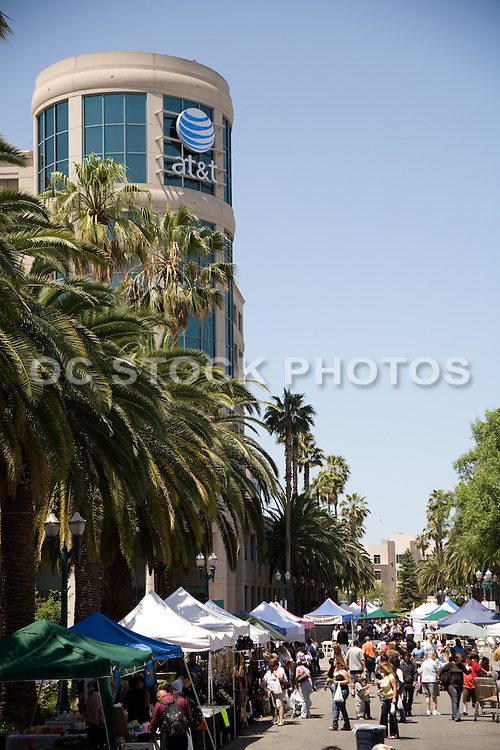 Shoppers at the Downtown Anaheim Farmer's Market