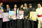 """l to r: Hil Harper, John Rhea, DJ Beverly Bond, Jay Norris, Kamantni Rawlins and Davood Roosteai at """" The Obama That One: A Pre-Inagural Gala Celebrating the Victory of President-Elect Obama celebration held at The Newseum in Washington, DC on January 18, 2009  .."""