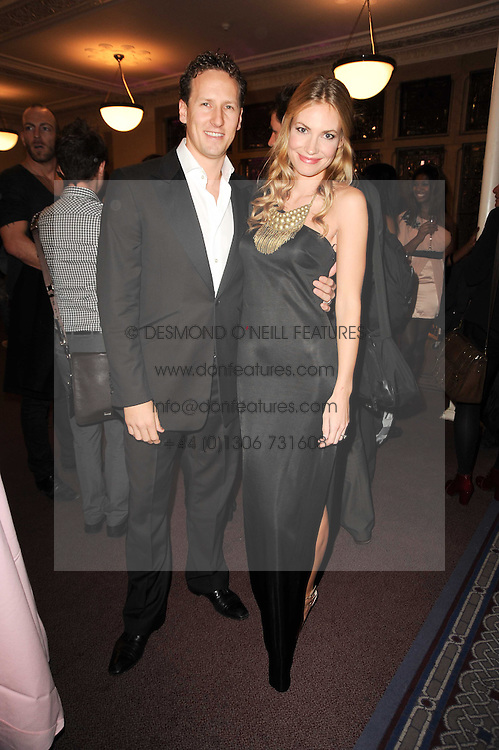 BRENDAN COLE and his wife ZOE HOBBS at the Inspiration Awards For Women held at Cadogan Hall, Sloane Terrace, London on 6th October 2010.