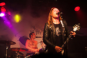 D-A-D from Denmark plays live at the Garage in Islington to a predominantly Danish audience. It is the bands 30th anniversary tour. Jesper Binzer.