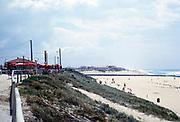 Mimizan plage centrale beach, Landes, south west France, Atlantic coast 1973