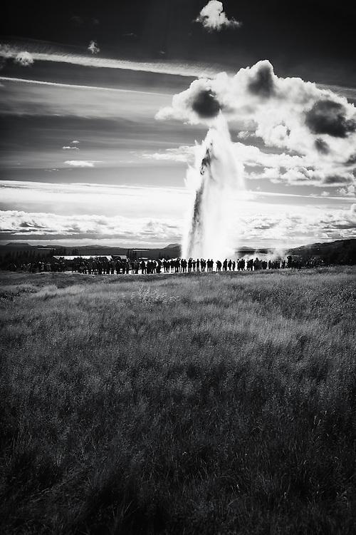 Strokkur geyser, Geysir