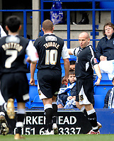 Photo: Paul Greenwood.<br />Tranmere Rovers v Swansea City. Coca Cola League 1. 10/03/2007.<br />Swansea's Andy Robinson (R) celebrates his goal