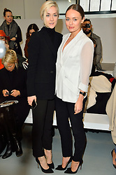© Licensed to London News Pictures. 22/02/2016. PORTIA FREEMAN and LAURA HADDOCK attend the ANTONIO BERARDI show at the London Fashion Week Autumn/Winter 2016 show. Models, buyers, celebrities and the stylish descend upon London Fashion Week for the Autumn/Winters 2016 clothes collection shows. London, UK. Photo credit: Ray Tang/LNP