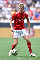 July 28, 2018 - Harrison, New Jersey, U.S - SL Benfica midfielder KEATON PARKS (55) in action during the International Champions Cup match at Red Bull Arena in Harrison New Jersey Juventus defeats SL Benfica 1 to 1 (4-2 on penalty kicks) (Credit Image: © Brooks Von Arx via ZUMA Wire)