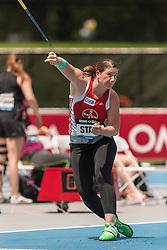 Linda Stahl, Germany, wins women's javelin, adidas Grand Prix Diamond League track and field meet