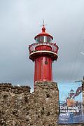 The lighthouse in Fort of Santa Catarina, Figueira da Foz, Portugal