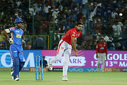 May 8, 2018 - Jaipur, Rajasthan, India - Kings XI Punjab bowler Ravichandran Ashwin bowls  during the IPL T20 match against Rajasthan Royals at Sawai Mansingh Stadium in Jaipur,Rajasthan,India on 8th May,2018.(Photo By Vishal Bhatnagar/NurPhoto) (Credit Image: © Vishal Bhatnagar/NurPhoto via ZUMA Press)