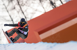 PYEONGCHANG, SOUTH KOREA - FEBRUARY 12: Snowboarder Kaja Verdnik of Slovenia during the Women's Halfpipe Snowboard Qualifications at Phoenix Snow Park on February 12, 2018 in PyeongChang, South Korea.  Photo by Ronald Hoogendoorn / Sportida