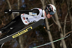Jernej Damjan during first series of team event of FIS Ski jumping World Cup finals in Planica, Slovenia.  Team event of FIS Ski jumping World cup were held in Planica, Slovenia, on K215 ski flying hill on March 15, 2008. (Photo by Vid Ponikvar / Sportal Images)./ Sportida)